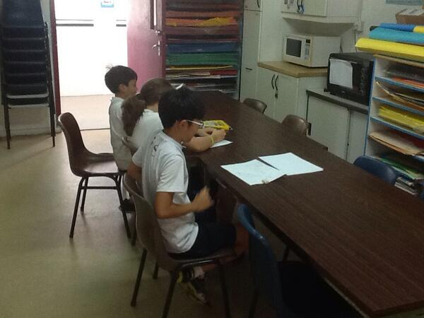 Yonguk, Krishna & Lilli work on advertisements for #issmustangcup #esphysed http://t.co/Flyr3sx2Ut