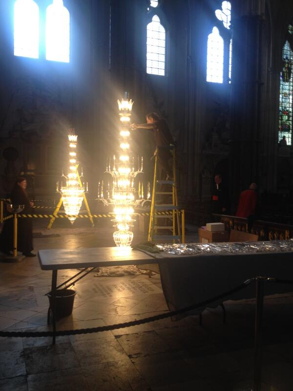 Westminster abbey on twitter this morning the waterford crystal westminster abbey on twitter this morning the waterford crystal chandeliers a gift from the guinness family in 1965 were lowered for cleaning aloadofball Images