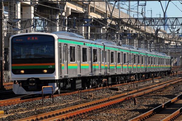 東十付近にて不思議な電車発見。とうとう宇都宮線にキタ━(゚∀゚)━!