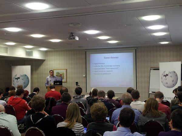 Full house at #EduWiki listening to @mlpoulter delivering his keynote http://t.co/KkEQwnEWrr