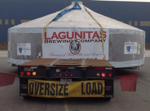 Lagunitas Brewing Co. equipment on truck