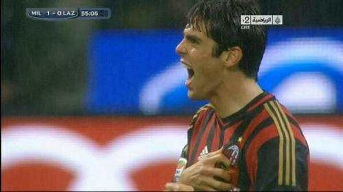 Kaka scores quality curler for 1st AC Milan goal since return in draw v Lazio [GIF & video]