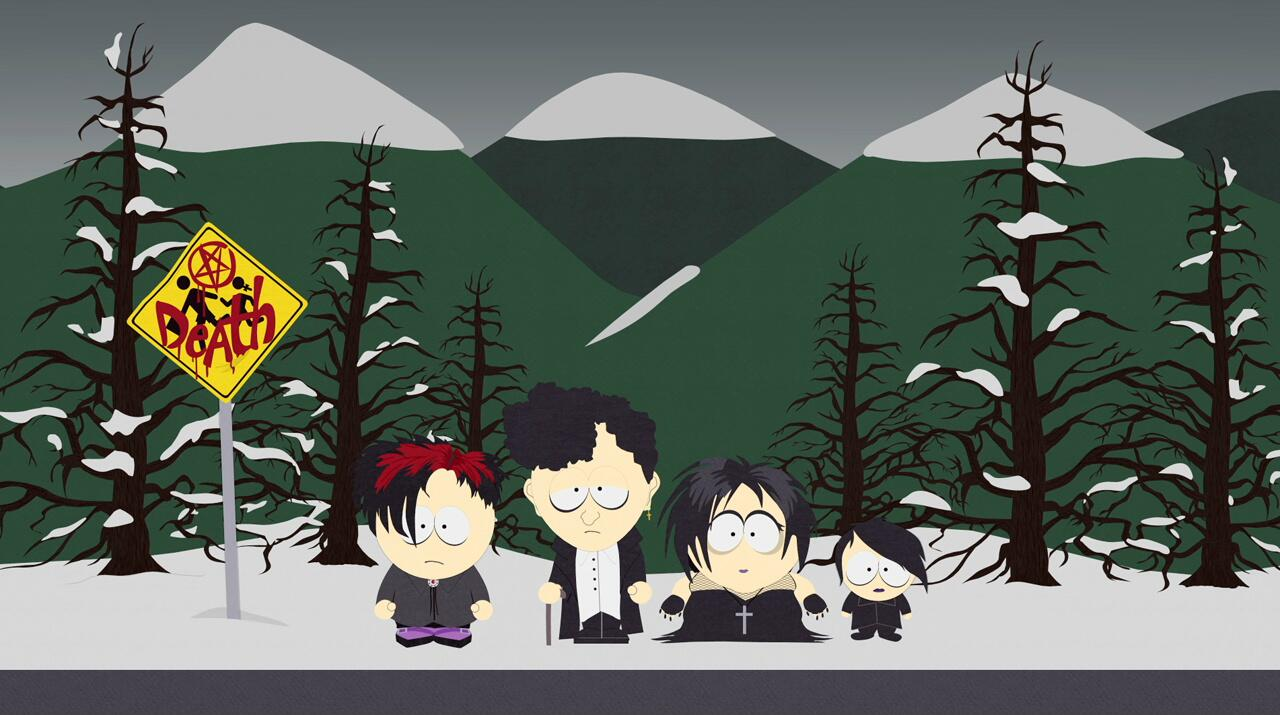 The South Park Live Tweet - Goth Kids 3: Dawn Of The Posers By @SouthPark on Twitter, October 30, ...