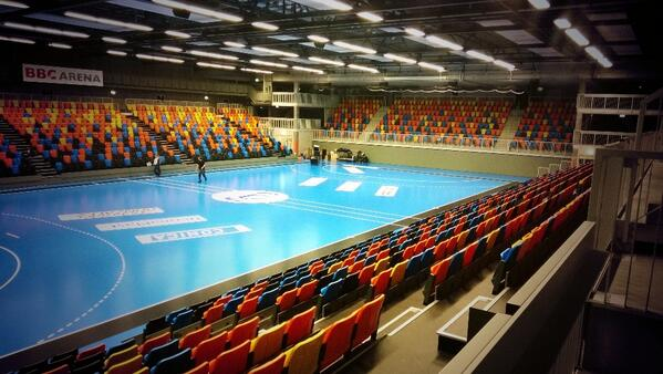 """esa jussila on Twitter: """"BBC Arena Schaffhausen getting prepared for #EFT Would be nice to have such Arenas in Finland. http://t.co/uOQC4pPX1k"""""""