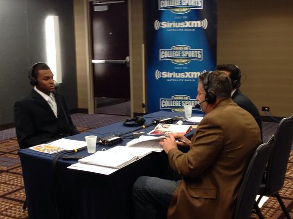 The final stop for @AndreHollins is with the guys from @SIRIUSXM #B1GMediaDay http://t.co/8uOCFto1kq