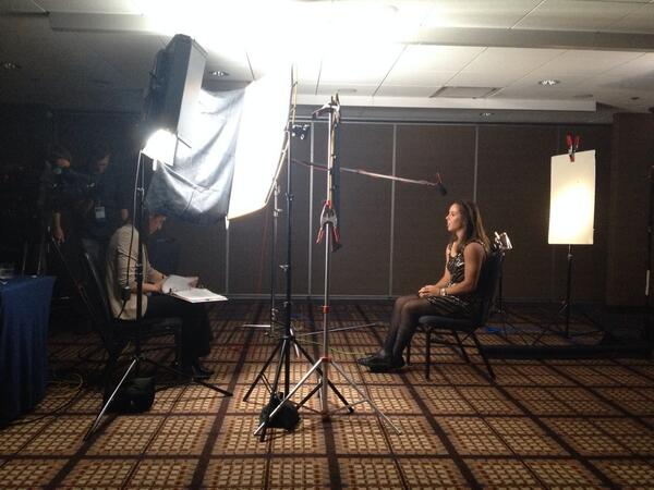 C-Mo taking in a one-on-one with Boiler Great @swhitej2! #BoilerUp #B1GMediaDay http://t.co/TBkNkO93zp