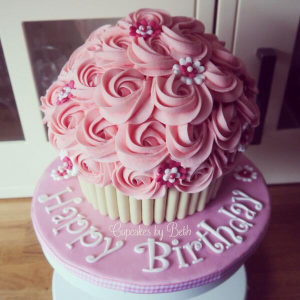Beth Speed On Twitter Girly Giant Cupcake Giantcupcake Cake