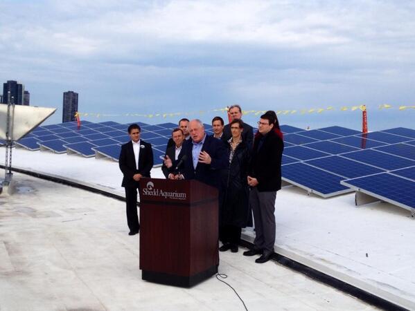 Shedd Aquarium solar array launch