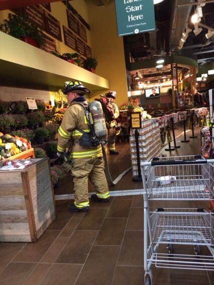 They are literally evacuating the Whole Foods right now! /cc @gloverpark http://t.co/Bxf1U3yPss