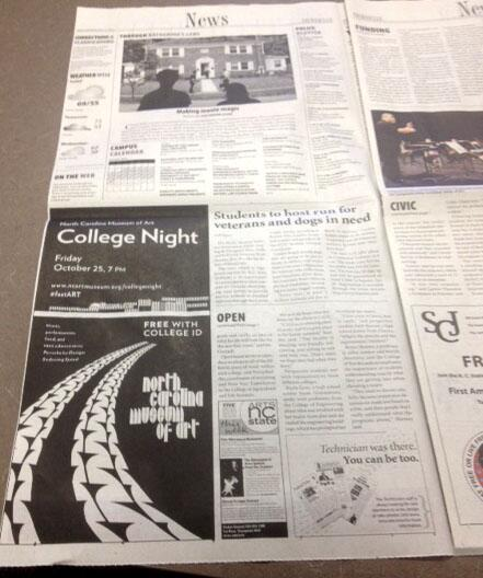Grab a copy of @ncsutechnician to see our College Night ad! @t2squ #fastArt http://t.co/Hzy2joxjM2
