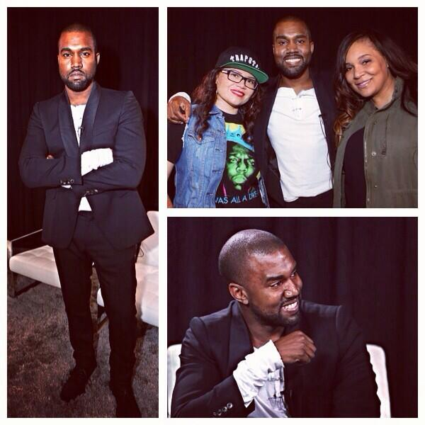 YEEZUS aka @kanyewest sat down with @sanagkmel and @MissKimmie106, interview coming to KMEL.com! http://twitter.com/106KMEL/status/392428288385482752/photo/1