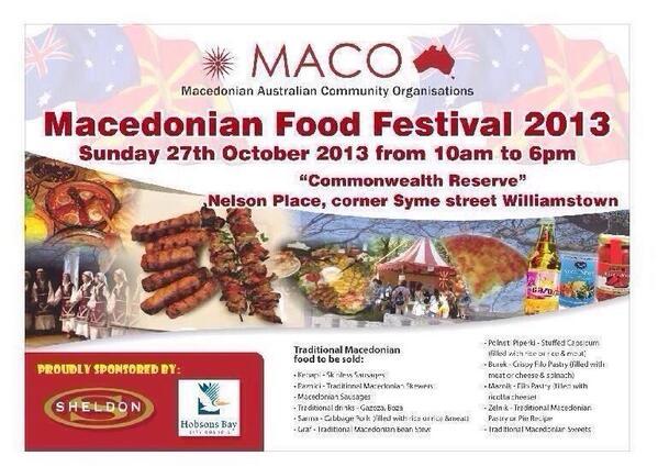 Macedonian Food Festival Williamstown