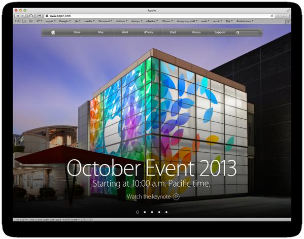 애플 대문을 전면으로 이벤트 예고로 뿌린건 처음 보는듯.. http://t.co/qwOzE4DLs4