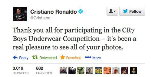 Cristiano Ronaldo publishes the worst Tweet of the season!