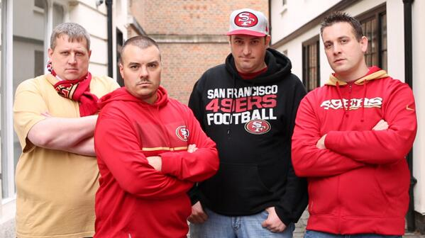 Great day interviewing the gents from @49erfaithfuluk for a #49ersStudios feature. #UK49ers http://twitter.com/49ers/status/392733144870174720/photo/1