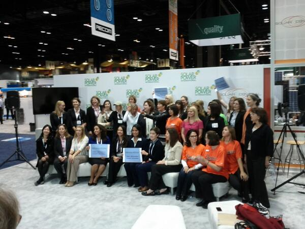 Awesome!! :) RT @SolarGardens: We love #women4solar #spicon http://twitter.com/solarfound/status/392749702258507776/photo/1 #SolarChat