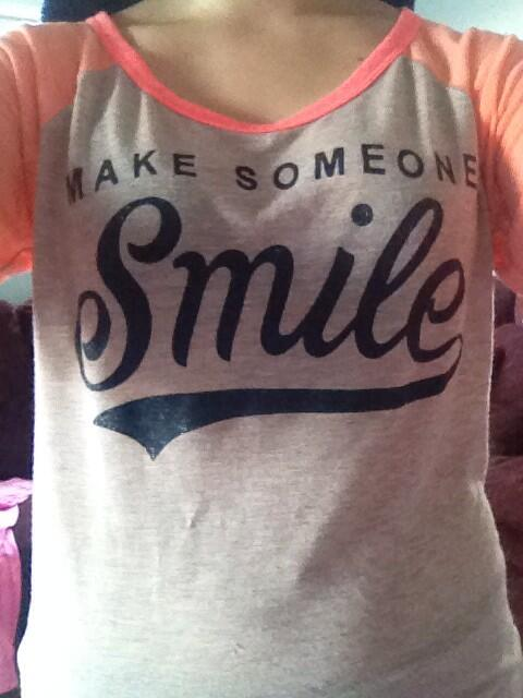 In honor of @msritzermath I'm wear my make someone smile shirt because she always new how to make people smile http://twitter.com/ingrahamsays/status/393027304227885056/photo/1