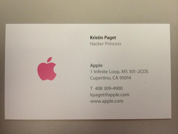 Kristin paget on twitter finally got around to picking a job title kristin paget on twitter finally got around to picking a job title and ordering some business cards im now officially a hacker princess reheart Choice Image