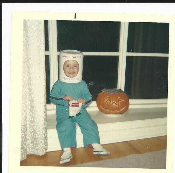 @Cmdr_Hadfield  This was more than 40 years ago - and that is a Javex bottle on my head...but I was an astronaut! :) http://twitter.com/SherryFAtHP/status/393082053131898880/photo/1