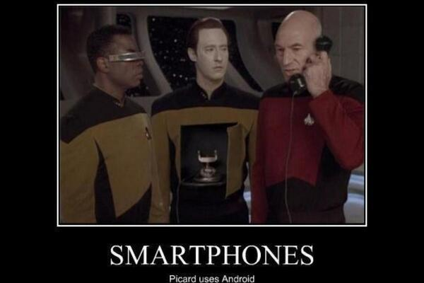 Image result for picard prefers android