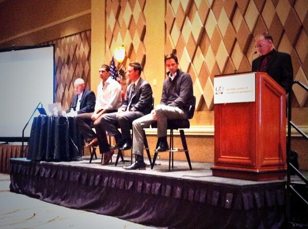 Leading #NCTMVegas Opening Session are @Mathalicious @LearnZillion @ddmeyer @jonathanwray http://t.co/LkFl42gEuV