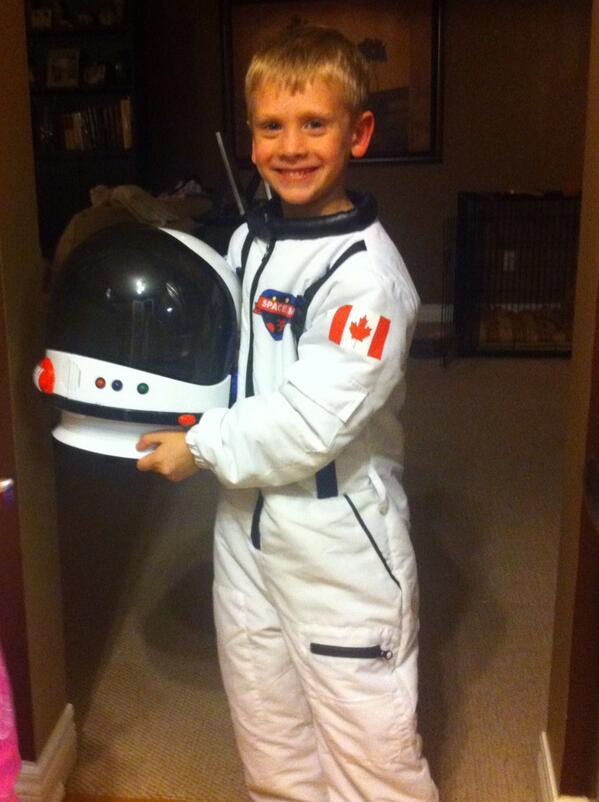 @Cmdr_Hadfield I know we are a little early but our little Canadian astronaut couldn't wait! http://twitter.com/bwpickard/status/393198953979977728/photo/1