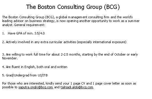 bcg cover letter Bain cover letter sample only those who submit an eye-catching cover letter are scheduled for further assessment letter of recommendation - bcg.
