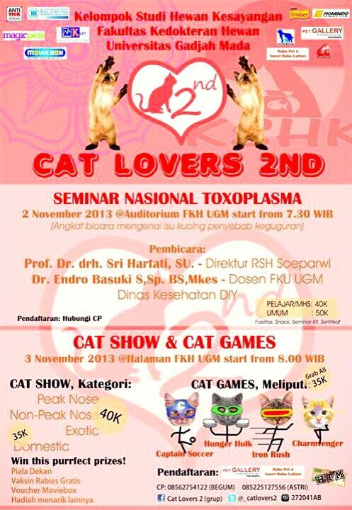 Seminar Nasional Toxoplasma , Cat Show, dan Cat Games