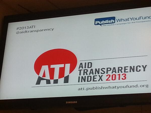 That settles that,  hash tag is #2013ATI for @aidtransparency  event at @BrookingsInst http://t.co/WmOMCbB2tR