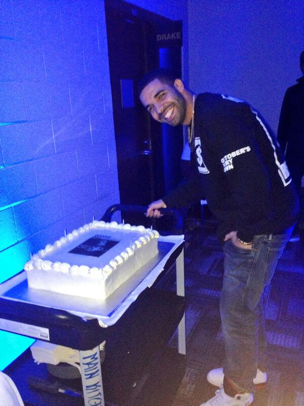 Air Canada Centre on Twitter Drake with his Birthday cake