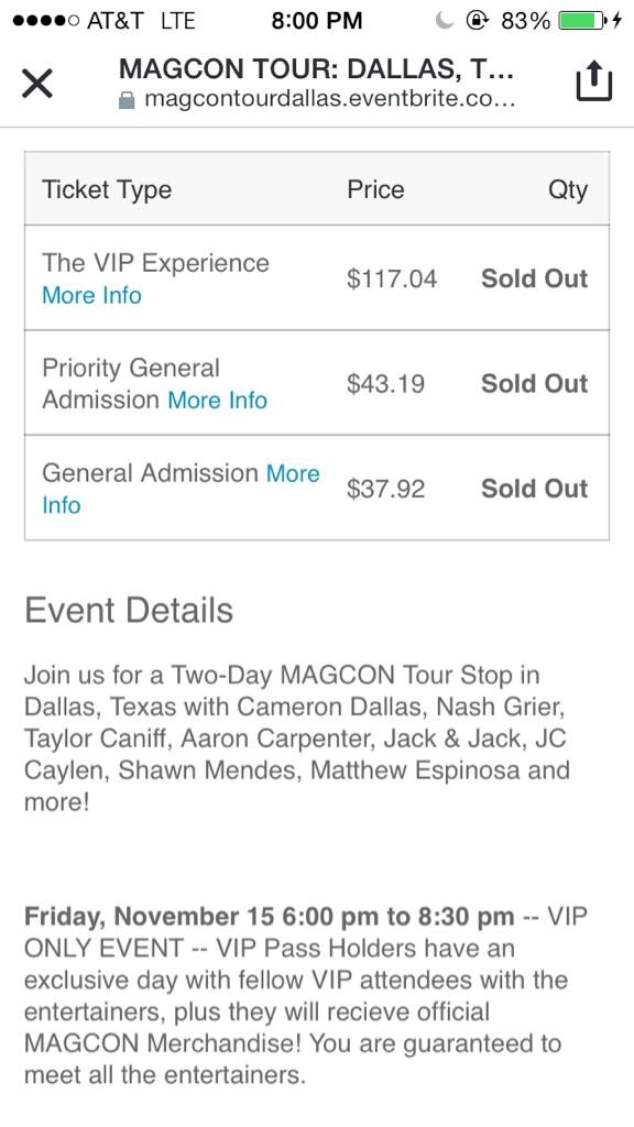 Maddy on twitter themattespinosacant believe all the tickets maddy on twitter themattespinosacant believe all the tickets for magcon are sold out i cant wait to see all you guys in dallas m4hsunfo
