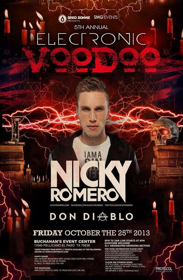 Free ticket time! RT this to be entered to win a ticket for #NickyRomero at this year's #ElectronicVoodoo tomorrow http://t.co/UqViz56JIo