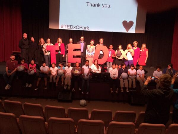 Nothing like the energy gained from surrounding yourself w/amazing people powering amazing #ideas. #TEDxCPark