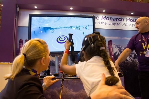 A great shot of the Oculus Rift in full flow at the @Monarch Ski and Snowboard event in London #monarchski #VR http://t.co/8m4lesd9Rr
