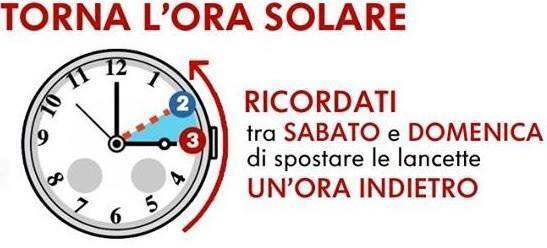 L'ora esatta per il cambio di orario dell'Ora Solare con l'Ora Legale che tornera' a marzo 2015.