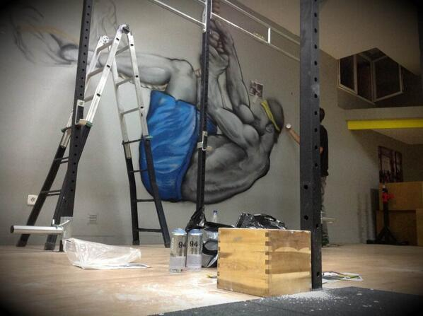 WESL On Twitter Works Graffiti Decoracion Gym Crossfit Spain Toledo Art Urban Action Wesl Tco SZr4L65uaI