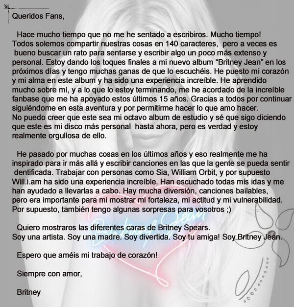 Carta de @britneyspears a sus fans http://t.co/WWWiuazq9U