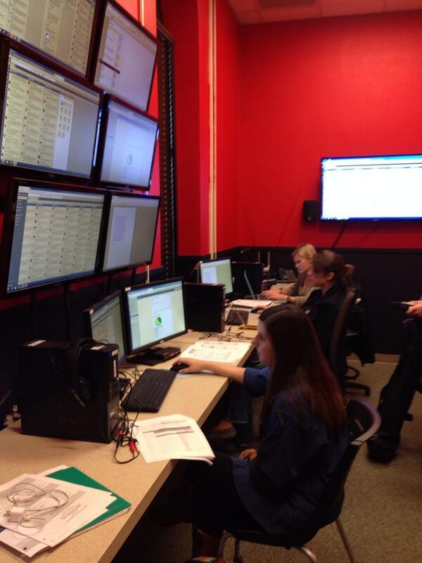 @TTU_MCOM student volunteers monitoring the @TexasTech @AsnPLS conference #APLSTTU13 http://twitter.com/TTU_Outpost/status/393847248267661312/photo/1