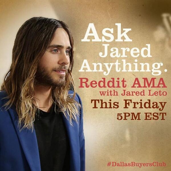 "25 octobre 2013 - Jared ""Ask Me Anything"" @Reddit BXc6I4DCAAAQBXA"