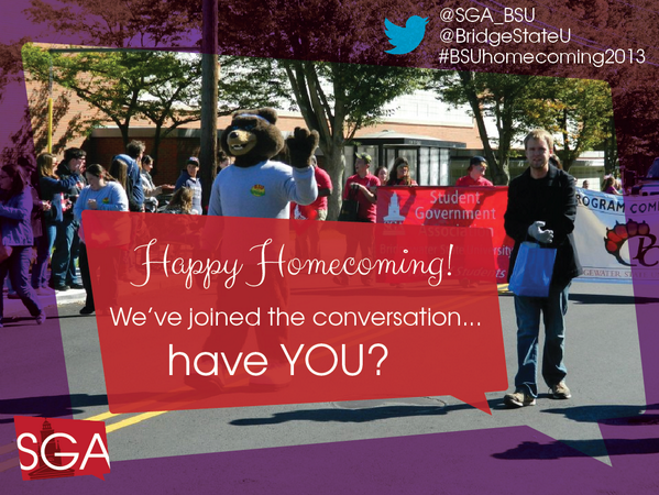 Look for our Social Media Mobile tomorrow! We're showing off @BridgeStateU's social media #BSUlife #bsuhomecoming2013 http://t.co/YooGoGMLT9