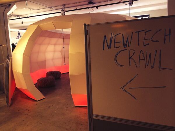 Feel the brainpower near the igloo. Over 70 startups here at RUNWAY. #newtechcrawl http://t.co/i7mmcRgMJG