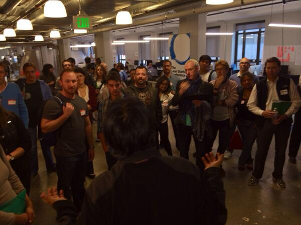 Taking off at @runway_is ! Woot!  #newtechcrawl #sfnt #innovatesf http://t.co/E1eUczOzz4