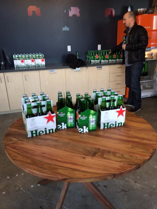 Thanks to Heineken for the beer! #newtechcrawl #sf http://t.co/a2aALLTe6c
