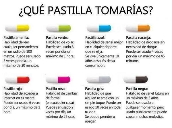 ¿Qué pastilla te tomarías? BXfz84tCQAAlIzS
