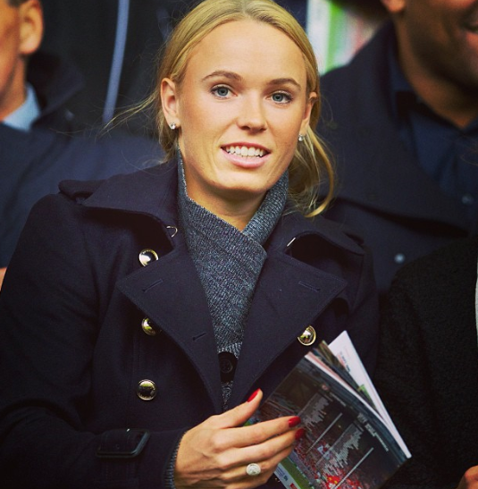 Caroline Wozniacki was at Anfield for Liverpool 4  West Brom 1