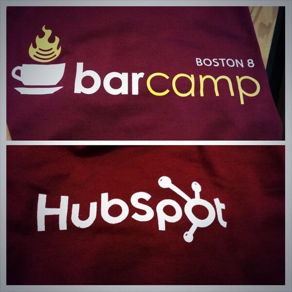 #bcbos, the only unconf where you'll see @stevegarfield working the bfast line & @sooz w/tshirts.BTW thanks,@HubSpot! http://t.co/iEPX9RU3I7