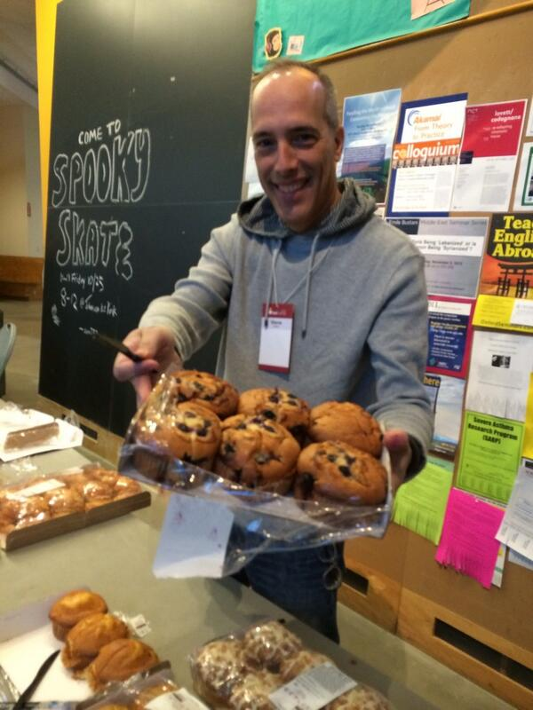 Photo: @stevegarfield and breakfast at Day 1 of #bcBOS at @MIT Stata Center. http://t.co/gjA6otxzRK