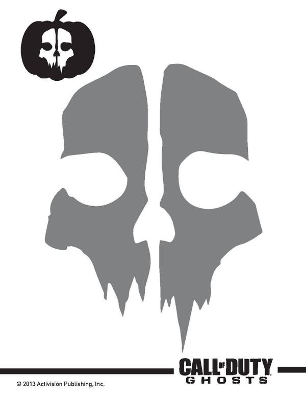 Infinity Ward On Twitter Codghosts Halloween Pumpkin Stencils