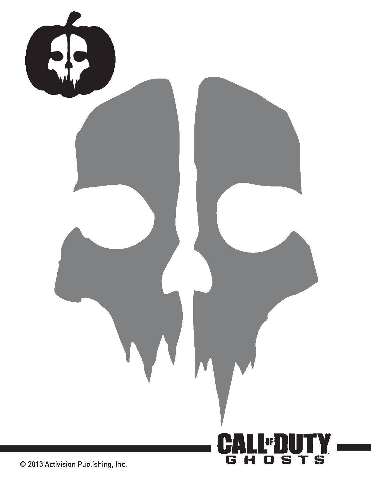 infinity ward on twitter codghosts halloween pumpkin stencils