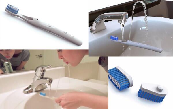 うがいもできる歯ブラシ(via http://www.amronexperimental.com/Amron-Oral.html)